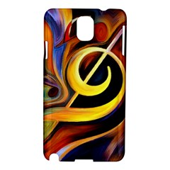 Art Oil Picture Music Nota Samsung Galaxy Note 3 N9005 Hardshell Case