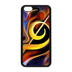 Art Oil Picture Music Nota Apple Iphone 5c Seamless Case (black)