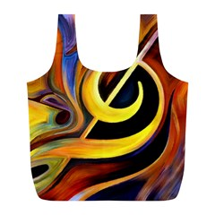 Art Oil Picture Music Nota Full Print Recycle Bags (l)