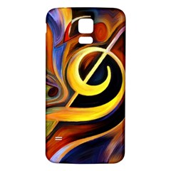 Art Oil Picture Music Nota Samsung Galaxy S5 Back Case (white)