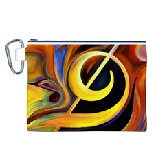 Art Oil Picture Music Nota Canvas Cosmetic Bag (l)