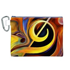 Art Oil Picture Music Nota Canvas Cosmetic Bag (xl)