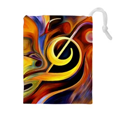 Art Oil Picture Music Nota Drawstring Pouches (extra Large)