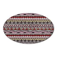 Aztec Pattern Art Oval Magnet