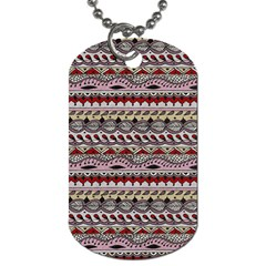 Aztec Pattern Art Dog Tag (one Side)