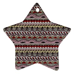 Aztec Pattern Art Star Ornament (two Sides)