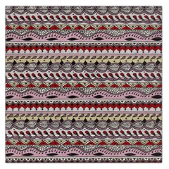 Aztec Pattern Art Large Satin Scarf (square)