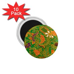 Art Batik The Traditional Fabric 1 75  Magnets (10 Pack)