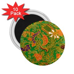 Art Batik The Traditional Fabric 2 25  Magnets (10 Pack)