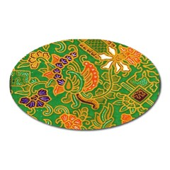 Art Batik The Traditional Fabric Oval Magnet