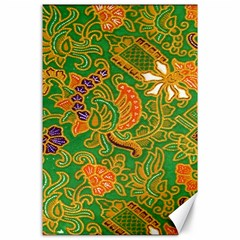 Art Batik The Traditional Fabric Canvas 24  X 36