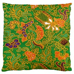 Art Batik The Traditional Fabric Large Cushion Case (one Side)