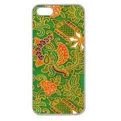 Art Batik The Traditional Fabric Apple Seamless Iphone 5 Case (clear)