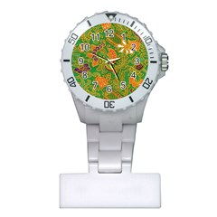 Art Batik The Traditional Fabric Plastic Nurses Watch