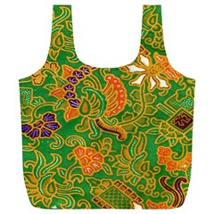 Art Batik The Traditional Fabric Full Print Recycle Bags (l)