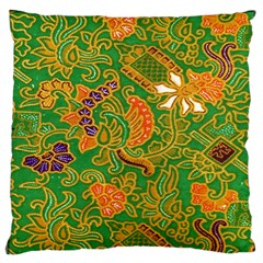 Art Batik The Traditional Fabric Large Flano Cushion Case (two Sides)