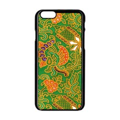 Art Batik The Traditional Fabric Apple Iphone 6/6s Black Enamel Case
