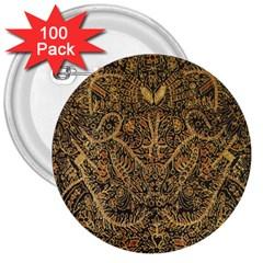 Art Indonesian Batik 3  Buttons (100 Pack)