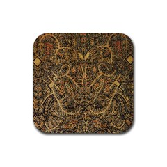 Art Indonesian Batik Rubber Square Coaster (4 Pack)
