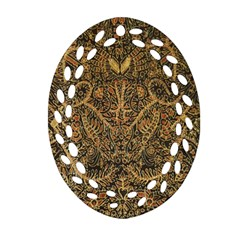 Art Indonesian Batik Oval Filigree Ornament (two Sides)