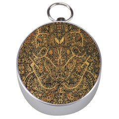 Art Indonesian Batik Silver Compasses