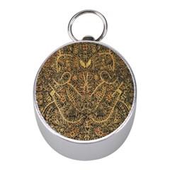 Art Indonesian Batik Mini Silver Compasses