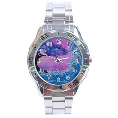 Rising To Touch You Stainless Steel Analogue Watch