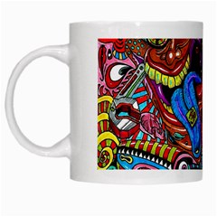 Art Color Dark Detail Monsters Psychedelic White Mugs