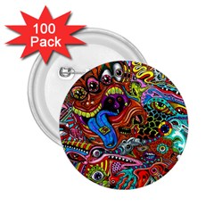 Art Color Dark Detail Monsters Psychedelic 2 25  Buttons (100 Pack)