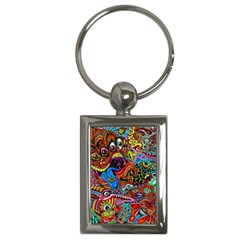 Art Color Dark Detail Monsters Psychedelic Key Chains (rectangle)