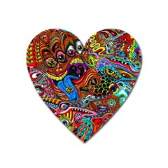 Art Color Dark Detail Monsters Psychedelic Heart Magnet