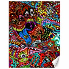 Art Color Dark Detail Monsters Psychedelic Canvas 12  X 16