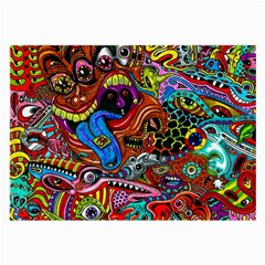 Art Color Dark Detail Monsters Psychedelic Large Glasses Cloth