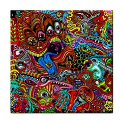 Art Color Dark Detail Monsters Psychedelic Face Towel