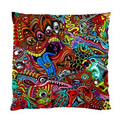 Art Color Dark Detail Monsters Psychedelic Standard Cushion Case (one Side)