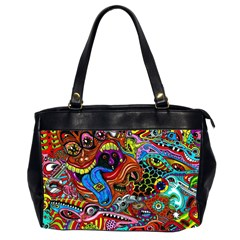 Art Color Dark Detail Monsters Psychedelic Office Handbags (2 Sides)