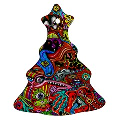 Art Color Dark Detail Monsters Psychedelic Ornament (christmas Tree)