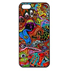 Art Color Dark Detail Monsters Psychedelic Apple Iphone 5 Seamless Case (black)