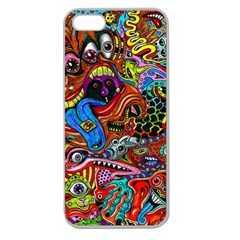 Art Color Dark Detail Monsters Psychedelic Apple Seamless Iphone 5 Case (clear)