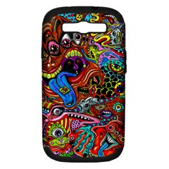 Art Color Dark Detail Monsters Psychedelic Samsung Galaxy S Iii Hardshell Case (pc+silicone)