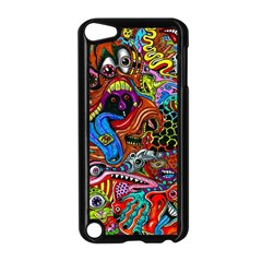 Art Color Dark Detail Monsters Psychedelic Apple Ipod Touch 5 Case (black)