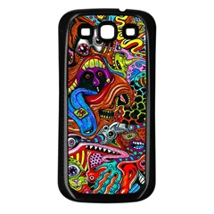 Art Color Dark Detail Monsters Psychedelic Samsung Galaxy S3 Back Case (black)
