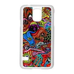 Art Color Dark Detail Monsters Psychedelic Samsung Galaxy S5 Case (white)
