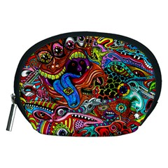 Art Color Dark Detail Monsters Psychedelic Accessory Pouches (medium)