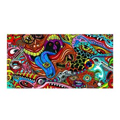 Art Color Dark Detail Monsters Psychedelic Satin Wrap