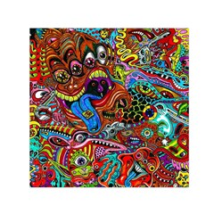 Art Color Dark Detail Monsters Psychedelic Small Satin Scarf (square)