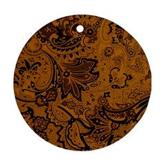 Art Traditional Batik Flower Pattern Round Ornament (two Sides)