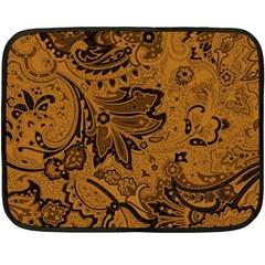 Art Traditional Batik Flower Pattern Fleece Blanket (mini)