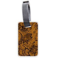 Art Traditional Batik Flower Pattern Luggage Tags (two Sides)