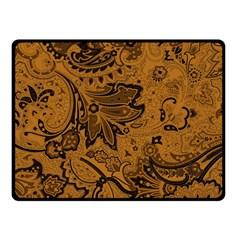 Art Traditional Batik Flower Pattern Double Sided Fleece Blanket (small)